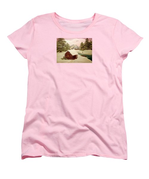 Women's T-Shirt (Standard Cut) featuring the painting Kelly's Retreat by Sheri Keith