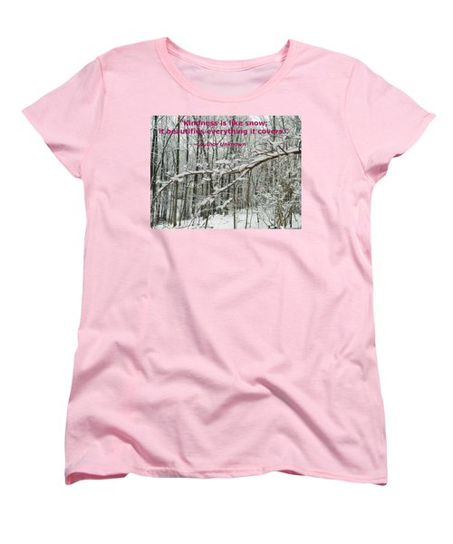 Women's T-Shirt (Standard Cut) featuring the photograph Kindness Is Like Snow by Emmy Marie Vickers