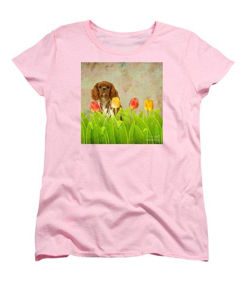 King Charles Cavalier Spaniel Women's T-Shirt (Standard Cut) by Liane Wright