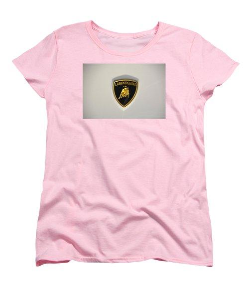 Lamborghini Badge Women's T-Shirt (Standard Cut) by Mike Martin