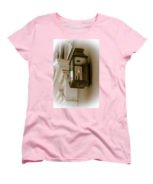Women's T-Shirt (Standard Cut) featuring the photograph Lamp Unto My Feet by Sennie Pierson