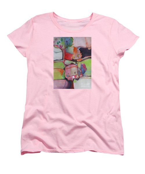 Women's T-Shirt (Standard Cut) featuring the painting Landscape by Michelle Abrams