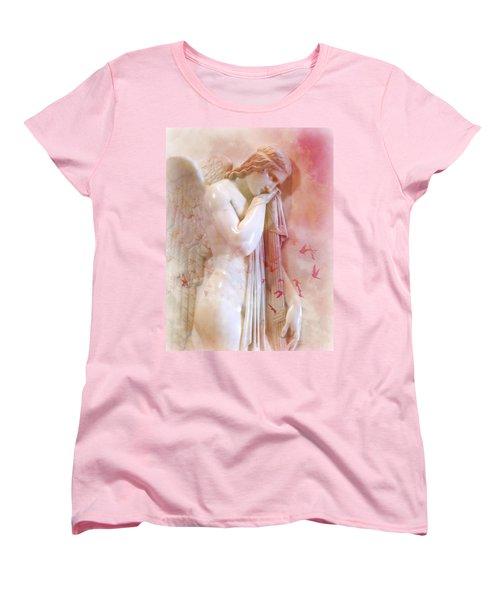 Women's T-Shirt (Standard Cut) featuring the photograph L'angelo Celeste by Micki Findlay