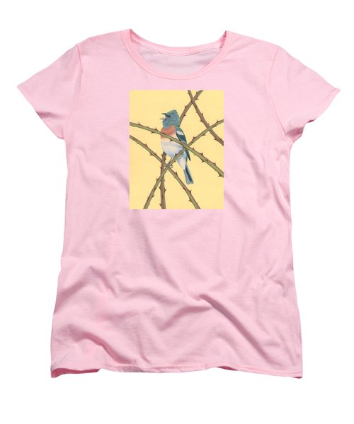 Lazuli Bunting Women's T-Shirt (Standard Cut) by Nathan Marcy