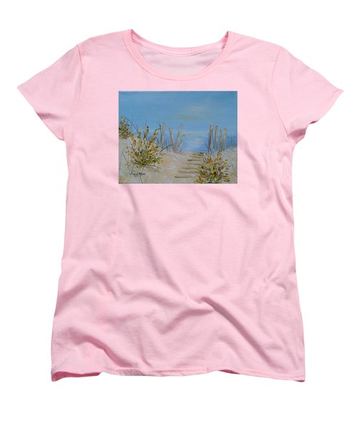 Women's T-Shirt (Standard Cut) featuring the painting Lbi Peace by Judith Rhue