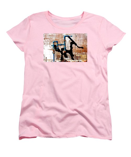 Women's T-Shirt (Standard Cut) featuring the photograph Leaky Faucet II by Christiane Hellner-OBrien