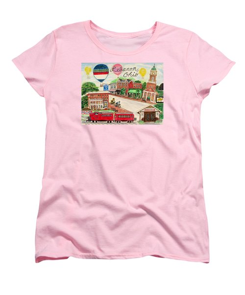Women's T-Shirt (Standard Cut) featuring the painting Lebanon Ohio by Diane Pape