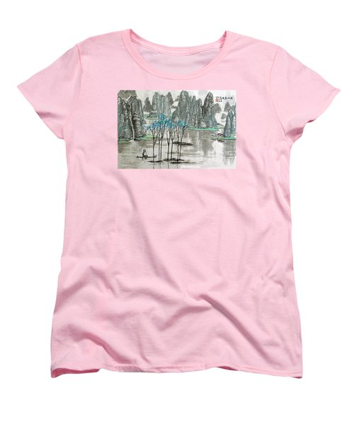 Li River In Spring Women's T-Shirt (Standard Cut) by Yufeng Wang