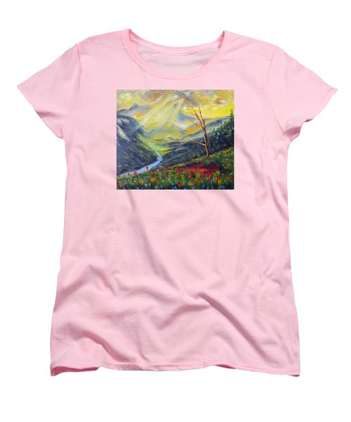 Women's T-Shirt (Standard Cut) featuring the painting Life Force by Meaghan Troup