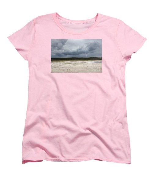 Lightening At Yellowstone Women's T-Shirt (Standard Cut) by Belinda Greb