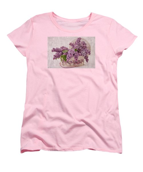 Women's T-Shirt (Standard Cut) featuring the photograph Lilacs In The Box by Sandra Foster