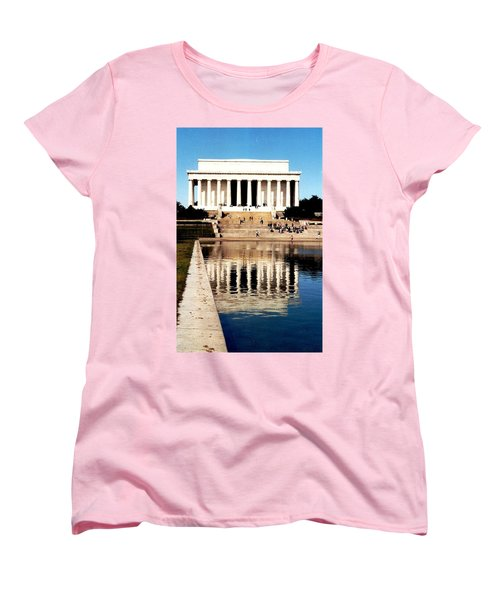 Lincoln Memorial Women's T-Shirt (Standard Cut) by Daniel Thompson