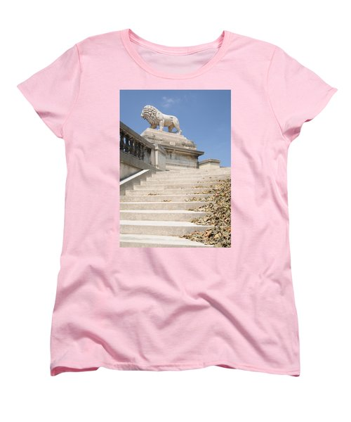 Lion Tuileries Garden Paris Women's T-Shirt (Standard Cut) by Jeremy Voisey