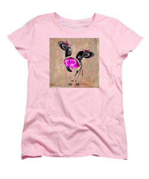 Little Cow Women's T-Shirt (Standard Cut) by Liane Wright