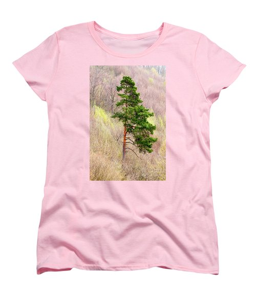 Women's T-Shirt (Standard Cut) featuring the photograph Lone Pine by Les Palenik