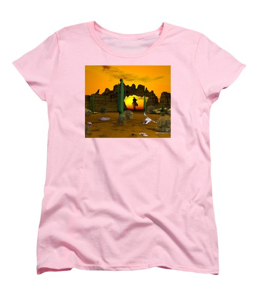 Lonesome Dove Women's T-Shirt (Standard Cut) by Jacqueline Lloyd