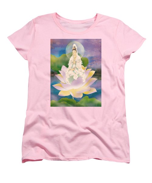 Lotus-sitting Avalokitesvara  Women's T-Shirt (Standard Cut) by Lanjee Chee