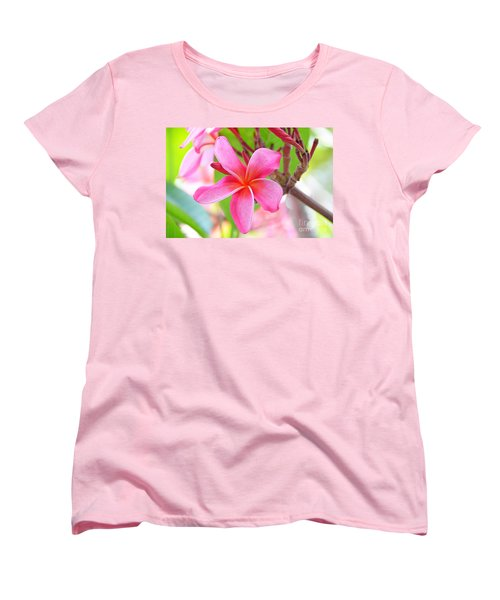 Women's T-Shirt (Standard Cut) featuring the photograph Lovely Plumeria by David Lawson