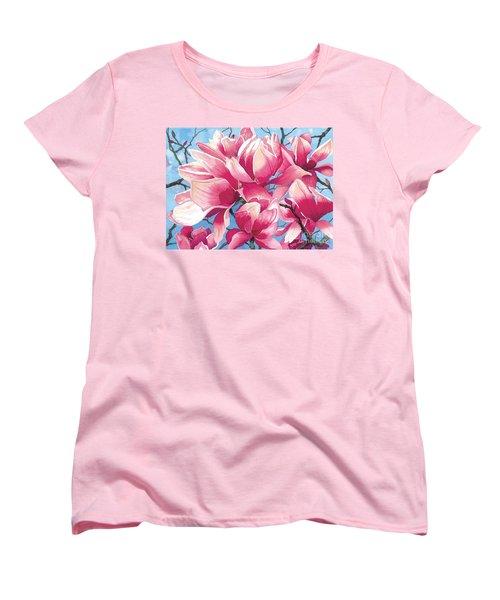 Magnolia Medley Women's T-Shirt (Standard Cut) by Barbara Jewell