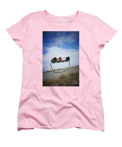 Women's T-Shirt (Standard Cut) featuring the photograph Mailboxes by Erika Weber