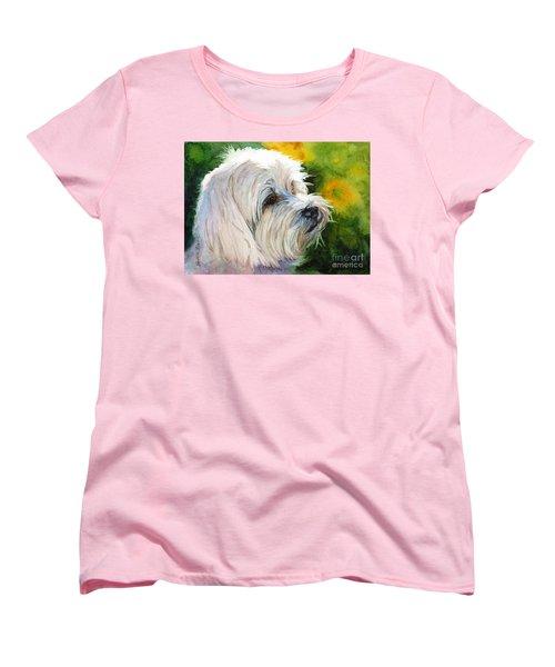 Maltese Women's T-Shirt (Standard Cut) by Bonnie Rinier