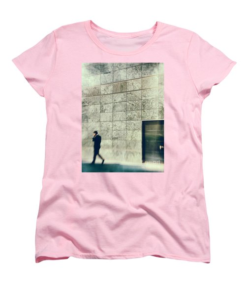 Women's T-Shirt (Standard Cut) featuring the photograph Man With Cell Phone by Silvia Ganora