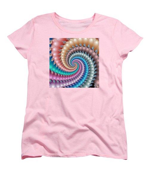 Mandelbrot Fractal Spyral Women's T-Shirt (Standard Cut) by Svetlana Nikolova