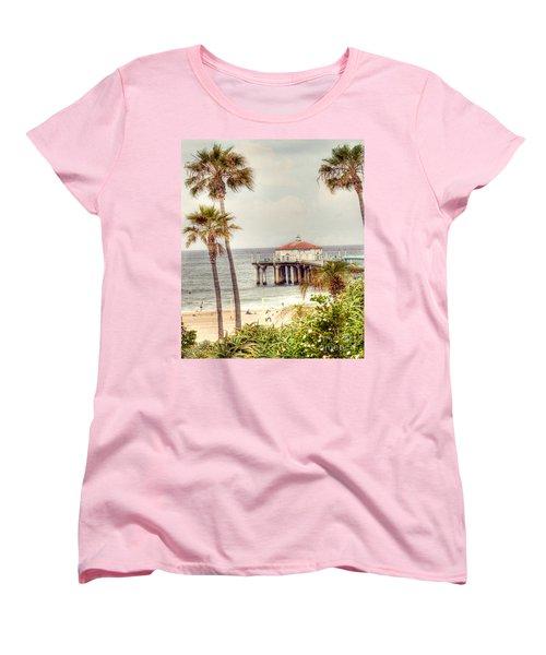 Manhattan Beach Pier Women's T-Shirt (Standard Cut) by Juli Scalzi