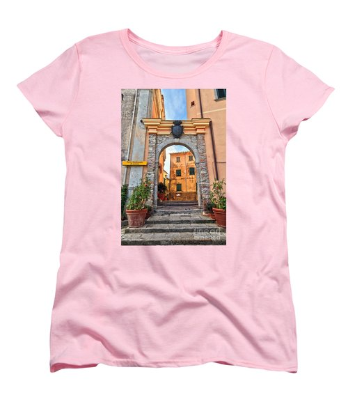 Marciana - Ancient Gate Women's T-Shirt (Standard Cut) by Antonio Scarpi