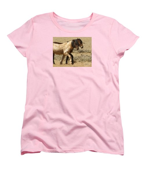 Mares In Step-signed-#9139 Women's T-Shirt (Standard Cut) by J L Woody Wooden