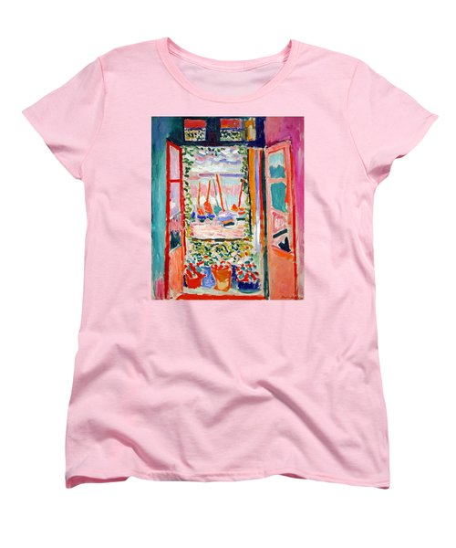 Matisse's Open Window At Collioure Women's T-Shirt (Standard Cut) by Cora Wandel