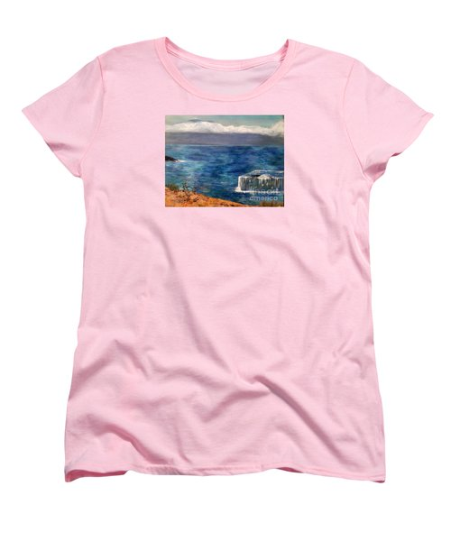 Women's T-Shirt (Standard Cut) featuring the painting Frida Goes To Maui by Vanessa Palomino