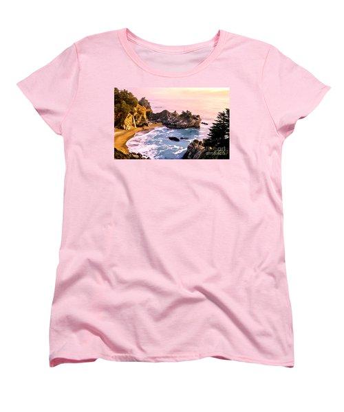Mcway Falls Pacific Coast Women's T-Shirt (Standard Cut) by Bob and Nadine Johnston