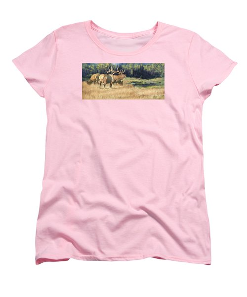 Women's T-Shirt (Standard Cut) featuring the painting Meadow Music by Rob Corsetti
