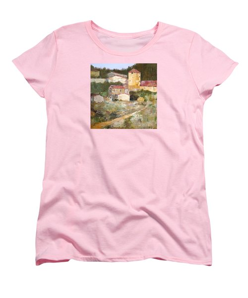 Mediterranean Farm Women's T-Shirt (Standard Cut) by Alan Lakin