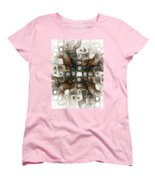 Memory Boxes-fractal Art Women's T-Shirt (Standard Cut) by Karin Kuhlmann