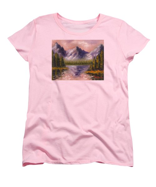 Women's T-Shirt (Standard Cut) featuring the painting Mental Mountain by Jason Williamson