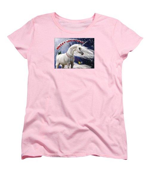 Merry Christmas Women's T-Shirt (Standard Cut) by Kate Black