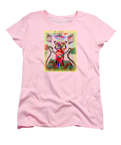 Women's T-Shirt (Standard Cut) featuring the painting Eleonore Sweet 16th by Marie Schwarzer