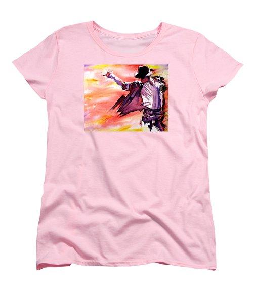 Michael Jackson-billie Jean Women's T-Shirt (Standard Cut) by Joshua Morton