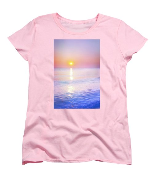 Women's T-Shirt (Standard Cut) featuring the photograph Milky Sunset by Lilia D