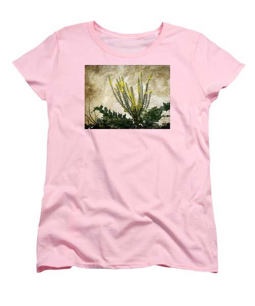 Women's T-Shirt (Standard Cut) featuring the photograph Mission Wallflower by Ellen Cotton