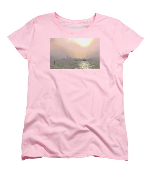 Women's T-Shirt (Standard Cut) featuring the painting Misty Lagoona 34 X 47 by Michael Swanson