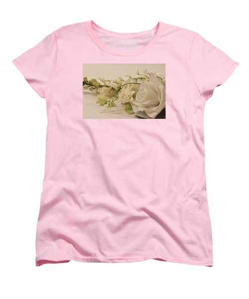 Women's T-Shirt (Standard Cut) featuring the photograph Many White Flowers  by Sandra Foster
