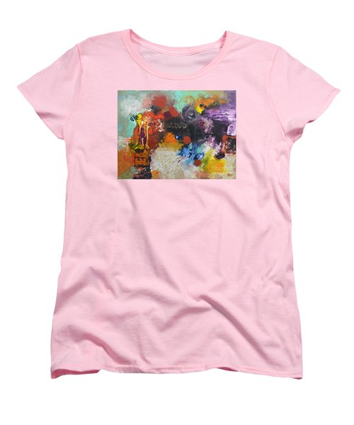 Moment Of Connection Women's T-Shirt (Standard Cut) by Sally Trace