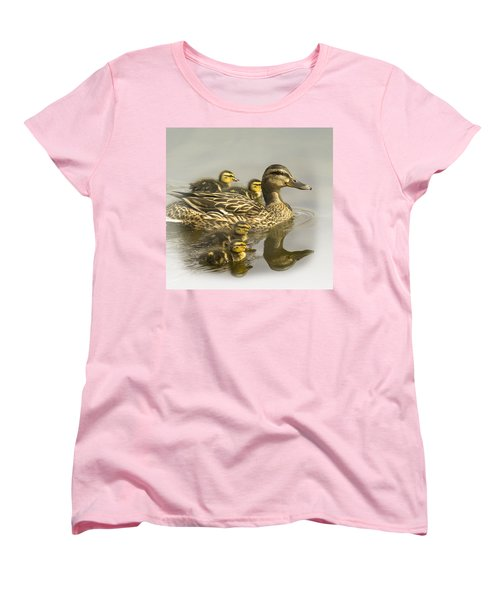 Momma And Babies Women's T-Shirt (Standard Cut) by Sonya Lang