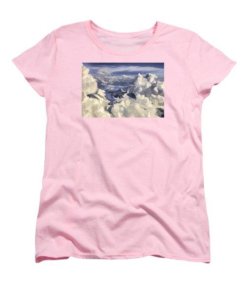 Mont Blanc Women's T-Shirt (Standard Cut) by Muhie Kanawati