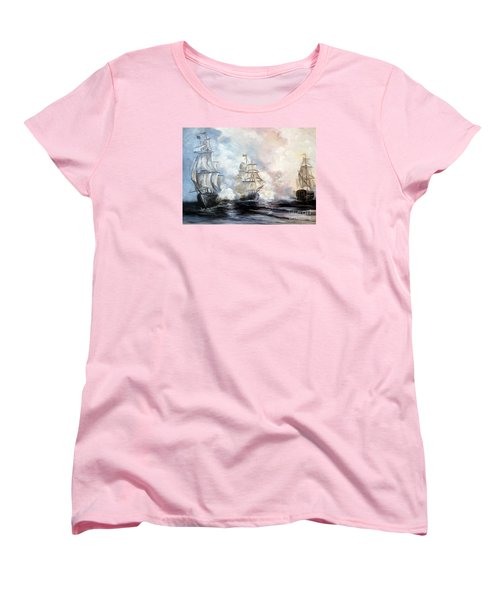 Women's T-Shirt (Standard Cut) featuring the painting Morning Battle by Lee Piper