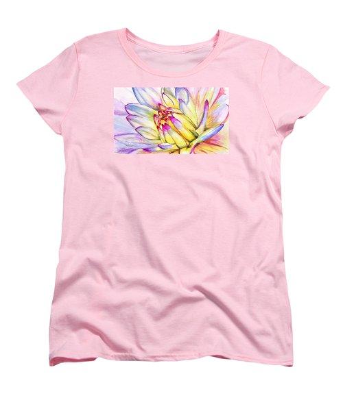 Morning Flower Women's T-Shirt (Standard Cut) by Janet Garcia