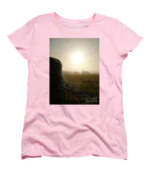 Women's T-Shirt (Standard Cut) featuring the photograph Morning Mist by Vicki Spindler